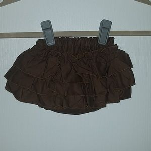 Other - Sherbet Baby brown ruffled diaper cover